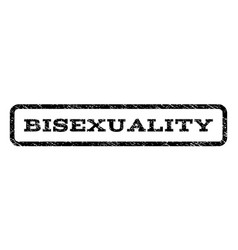 Bisexuality watermark stamp vector