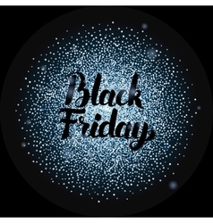 Black Friday Lettering over Silver vector image
