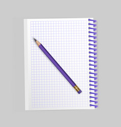 blank realistic spiral notepad notebook and vector image