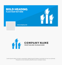 Blue business logo template for aspiration vector