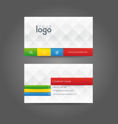 business card identity corporate vector image