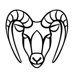 capricorn zodiac sign black horoscope symbol vector image