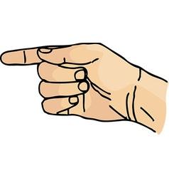 Cartoon hand gesture vector