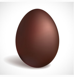 Chocolate egg happy easter concept vector