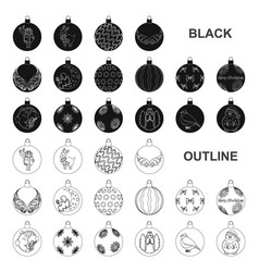 christmas toys black icons in set collection for vector image
