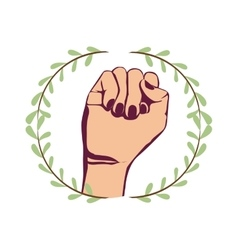 Clenched fist symbol vector image