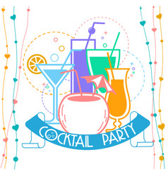 cocktail party banner vector image