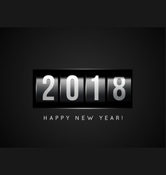 congratulations on the new year 2018 against the vector image