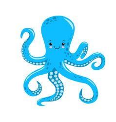 cute octopus isolated on white vector image