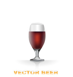 Dark beer glass vector