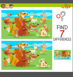 differences game with dog characters vector image