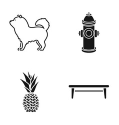Dog hydrant and other web icon in black style vector