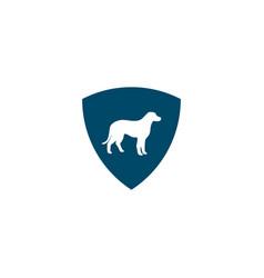 Dog icon logo design template vector