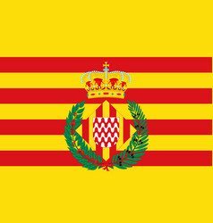 Flag of girona is a city of spain vector