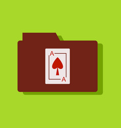 Flat icon design collection playing card on vector