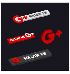 Follow me on google plus vector
