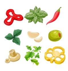 Food ingredients Series 1 - yellow bell pepper vector