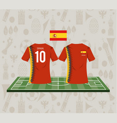 football spain sport wear tshirt vector image