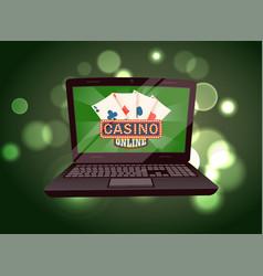 Gambling game in computer casino app pc vector