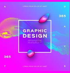 glowing particles liquid dynamic gradient vector image