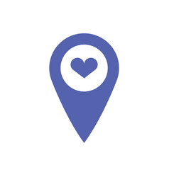 gps heart icon vector image