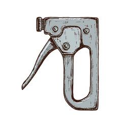 Hand drawn construction stapler vector