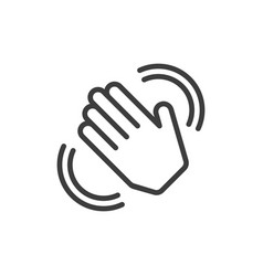 hand waving icon vector image