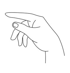 hand with fingers pointing and showing vector image