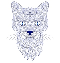 Head of cat on white background vector