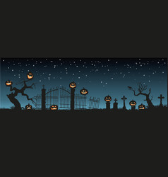 holiday halloween black silhouettes of pumpkins vector image