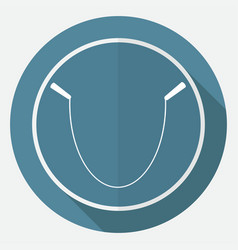 icon gym rope on white circle with a long shadow vector image