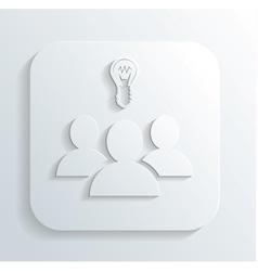 Idea of the icon vector