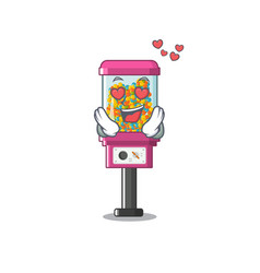 in love candy vending machine with character vector image