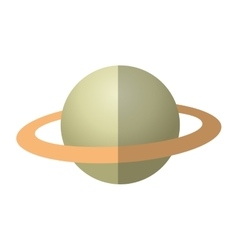 Isolated planet design vector