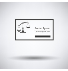 Lawyer business card vector