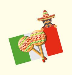 Mexican flag design vector