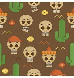 Mexican skull pattern vector