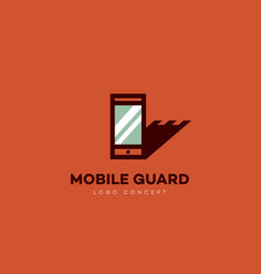 mobile guard logo vector image