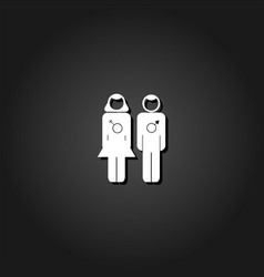 pair of lovers icon flat vector image