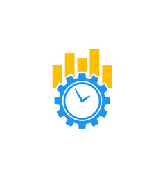 Productivity and efficiency icon on white vector