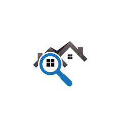 real estate house finder logo template vector image
