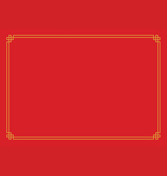 red chinese new year empty background with golden vector image