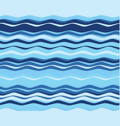 Seamless wavy lines vector