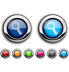 Searching button vector image