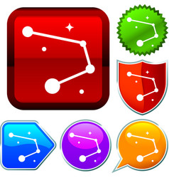 Set shiny icon series on buttons constellation vector