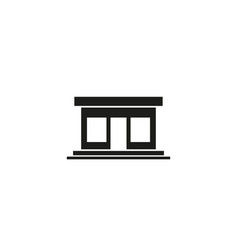 shop building icon isolated vector image