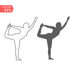 sketch woman gymnast handstand on a white vector image