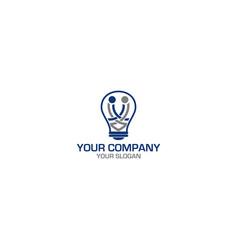 Smart handshake logo design vector