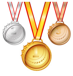 Sports medals set vector