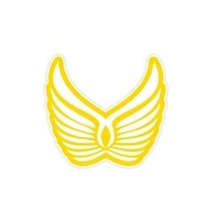 Sticker Eagle Wings logo vector